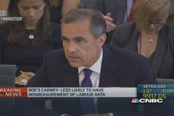 UK earnings growth to accelerate: BoE's Carney