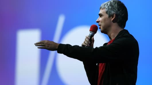 Google co-founder and Alphabet CEO Larry Page.