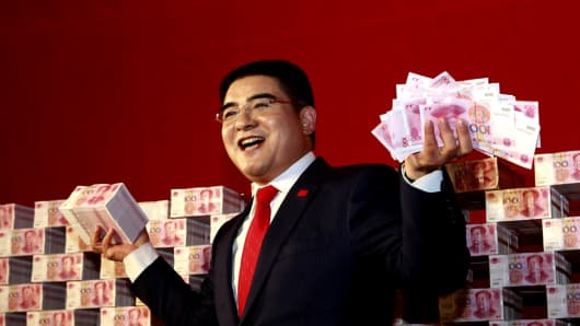 Chinese billionaire philanthropist Chen Guangbiao, chairman of Jiangsu Huangpu Renewable Resources Utilization.