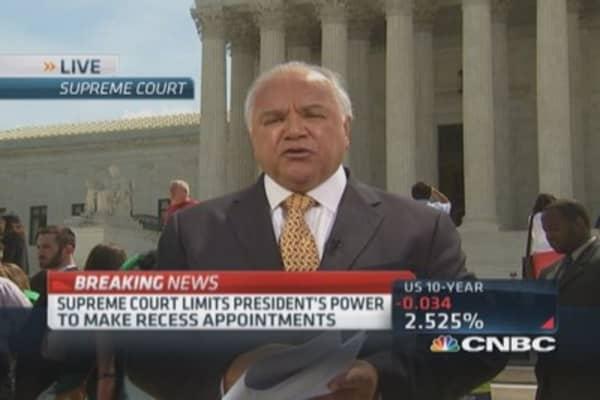 SCOTUS upholds presidential recess power