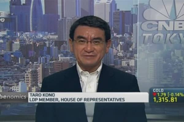 Taro Kono: Be patient, Japan is on the right track