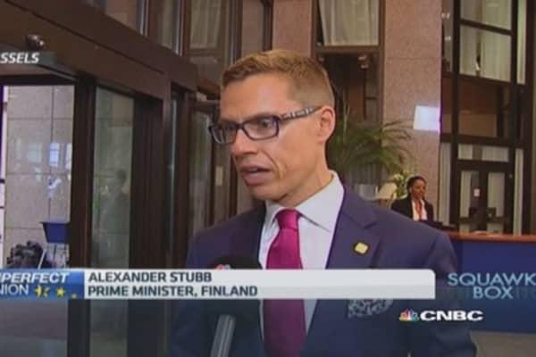 UK needs to wake up, smell coffee on EU: Finnish PM