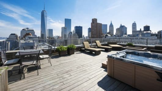 View from the $118.5 million penthouse at the Ritz Carlton in New York City.
