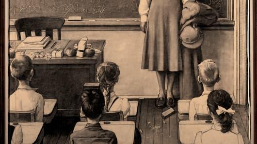 "Norman Rockwell's ""Happy Birthday Mrs. Jones (Study)"" 1956."