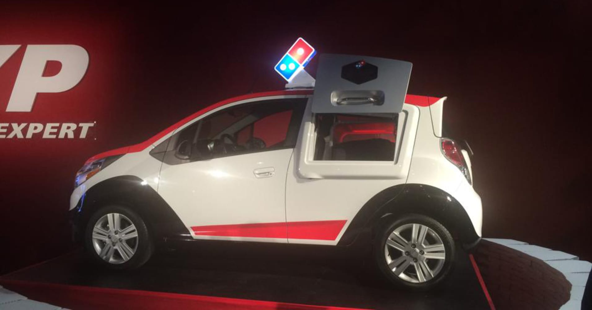 Meet the Domino's pizza delivery car of the future