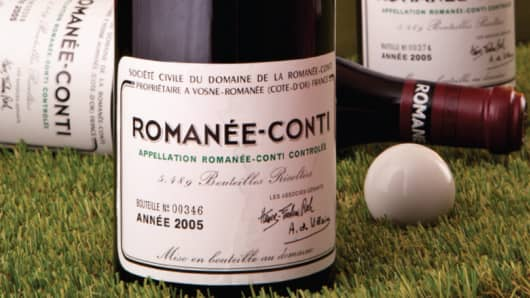Three bottles of 2005 Romanée-Conti from Burgundy sold on June 26 for $40,137.50.