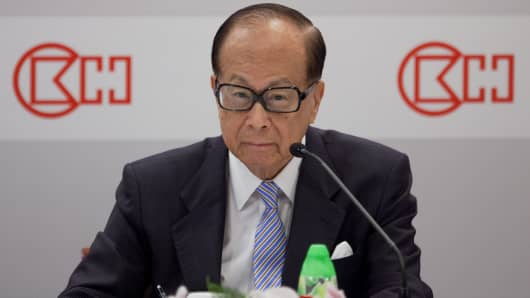 Li Ka-shing, chairman of Cheung Kong (Holdings) Ltd. and Hutchison Whampoa Ltd.
