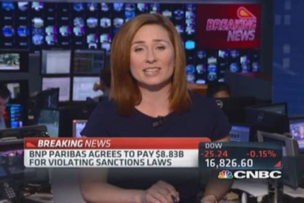 BNP Paribas agrees to $8.83 billion fine