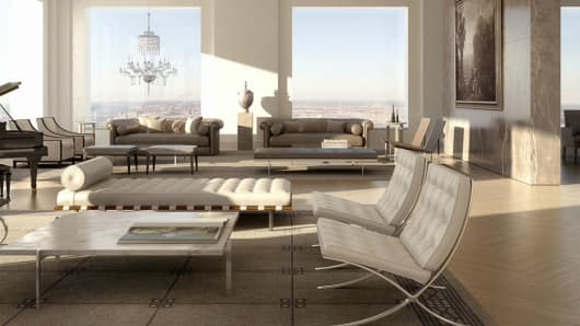 Park Avenue penthouse currently on the market for $82.5 million.