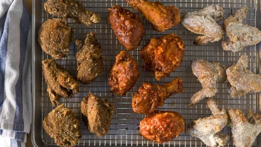Federal Donuts' glazed and dry-spiced Korean-fried chicken.