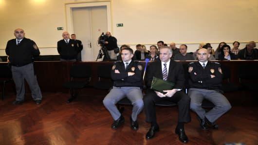 Former Croat Prime Minister Ivo Sanader on trial for bribery.