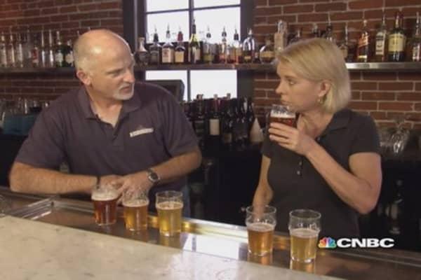 Beer tasting at Oregon's oldest brewery