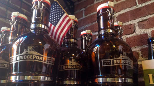 Bridgeport Brewing was established in 1984, IPAs Bridgeport Brewing gets ready for July 4th party.
