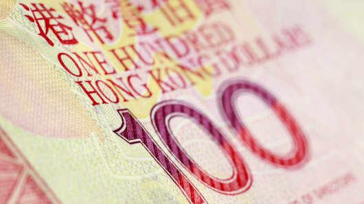 Hong Kong $100 bill.