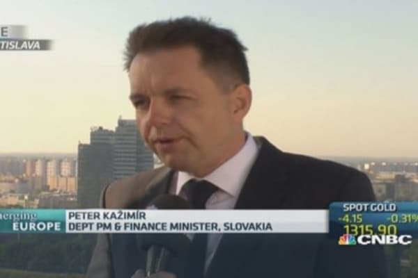 Slovakia high unemployment 'typical': Deputy PM