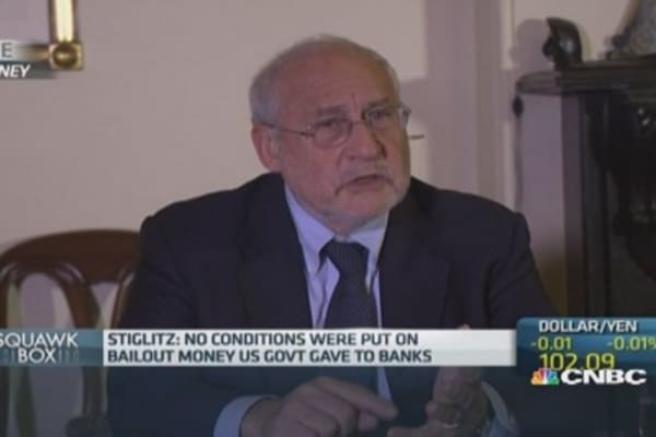 Stock rally not an economic recovery: Stiglitz