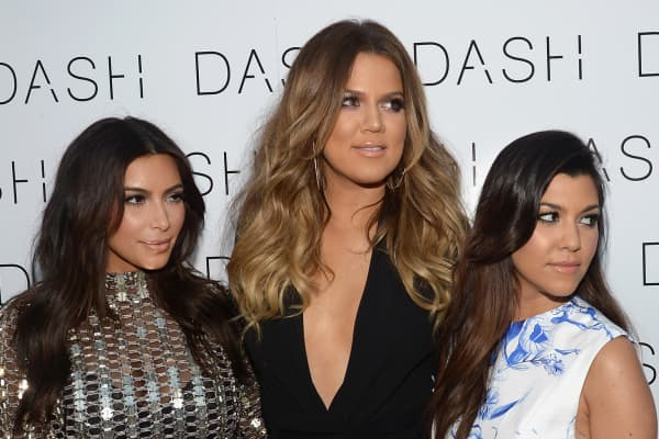 Kim Kardashian, Khloe Kardashian and Kourtney Kardashian on March 12, 2014 in Miami Beach, Florida.