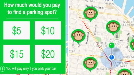 Monkey Parking app.