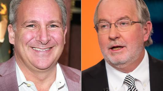 From left: Peter Schiff and Dennis Gartman