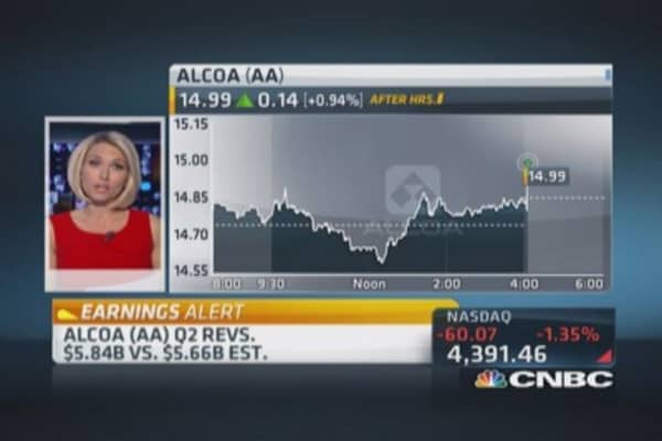 Alcoa Q2 earnings out