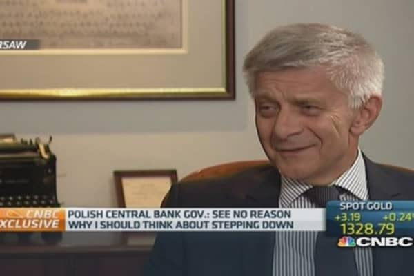 I'm not resigning over tapes: Polish central bank chief