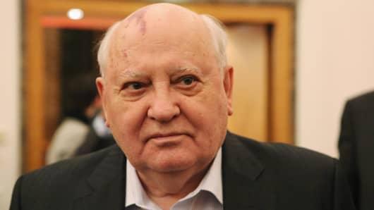 Former leader of the Soviet Union Mikhail Gorbachev.