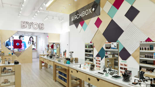 Birchbox retail store.