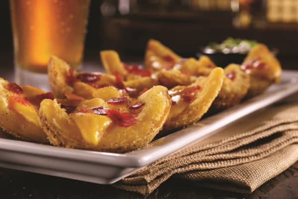 "TGI Fridays' loaded potato skins, one of the choices for ""Endless Appetizers for $10."""