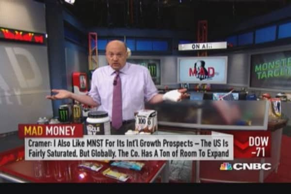 Cramer's 'Monster' takeover speculation