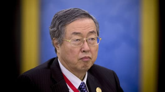Zhou Xiaochuan, Governor of the People's Bank of China (PBOC).
