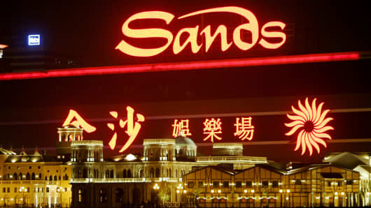 Las Vegas Sands casino sits behind the Fishermans Wharf in Macau, in this Feb. 7, 2006 file photo.