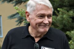 Liberty Media Chairman John Malone arrives for a morning session during the Allen & Co. Media and Technology Conference in Sun Valley, Idaho.