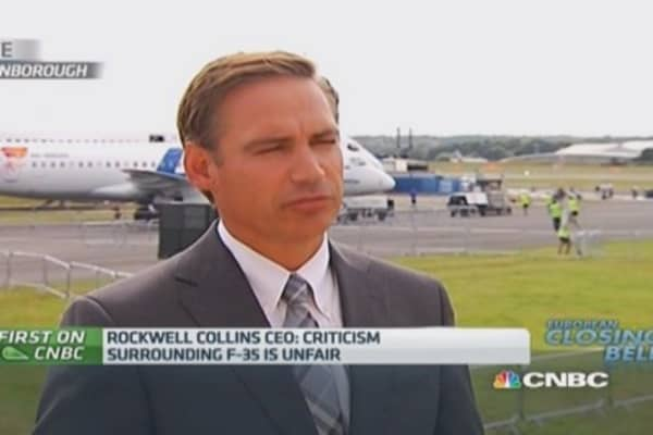 Criticism of the F-35 is unfair: Rockwell Collins CEO