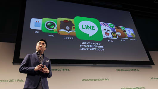 Takeshi Idezawa, Chief Operating Officer of Line Corp.