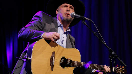 Musician Garth Brooks performs onstage during the 51st annual ASCAP Country Music awards