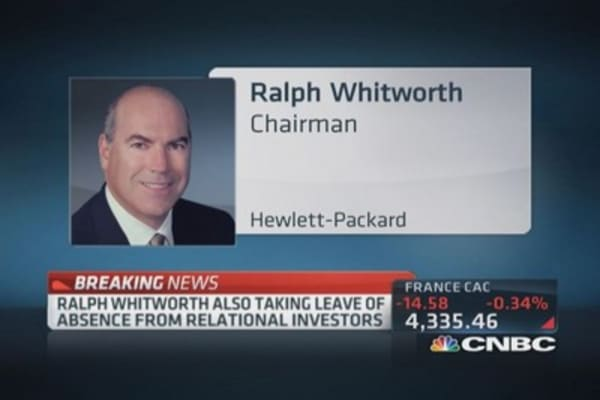 HP chairman Whitworth resigns
