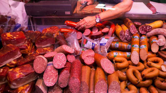German sausage makers hit by €338m fine | CNBC