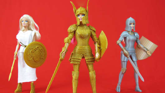 Through Kickstarter, Jim Rodda funded his Faire Play: Barbie-Compatible 3D Printed Medieval Armor project.
