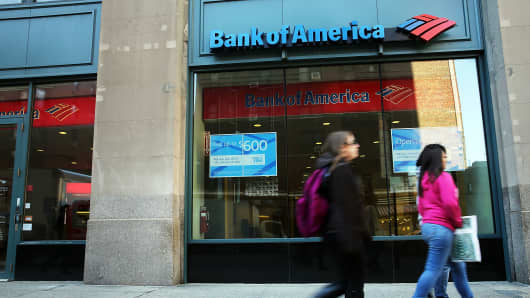 Bank of America branch in New York City