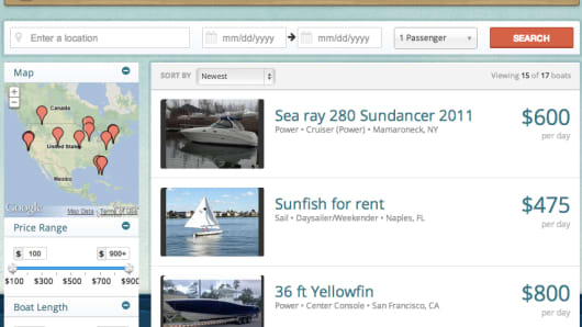 Users can search on Boatbound for a variety of boats in their budget