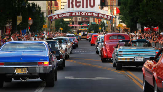 Hot August Nights in Reno, Nevada, is the largest classic car and nostalgia event in the U.S.