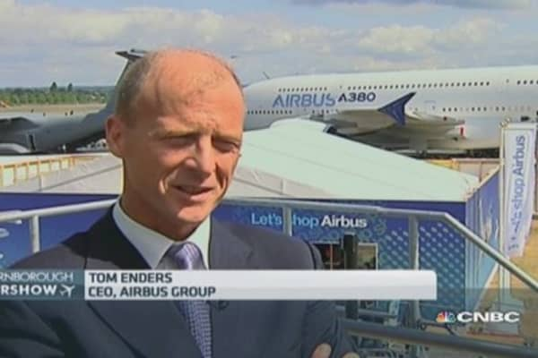 'It'd be nice' for ECB to lower euro: Airbus CEO