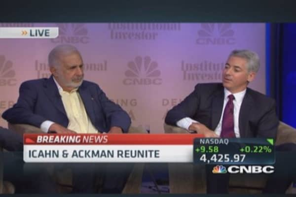 Ackman: Would love to get Icahn out of Herbalife