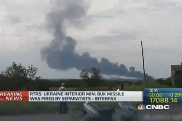 Malaysian Airline plane crashes in Ukraine