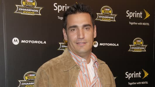 AJ Discala attends the 2005 NASCAR Nextel Cup Series champion's party in New York.