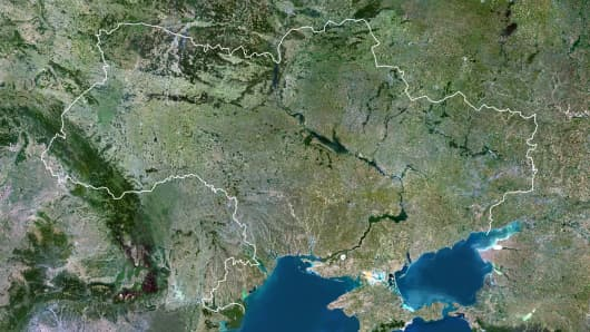 Satellite Image of Ukraine