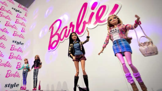 Barbie Collection 2014 dolls are shown at the press preview of the Nuremberg International Toy Fair 2014 in Nuremberg, Germany.