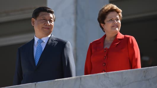 Brazilian President Dilma Rousseff and Chinese President Xi Jinping.