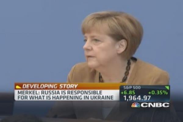 Merkel: Russia responsible for Ukraine