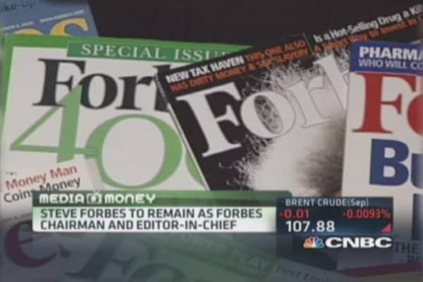 Forbes Media selling majority stake: Report